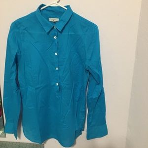 J Crew pop over turquoise blouse. Size 12